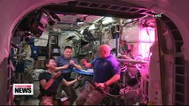 NASA astronauts take first bites of lettuce grown in space