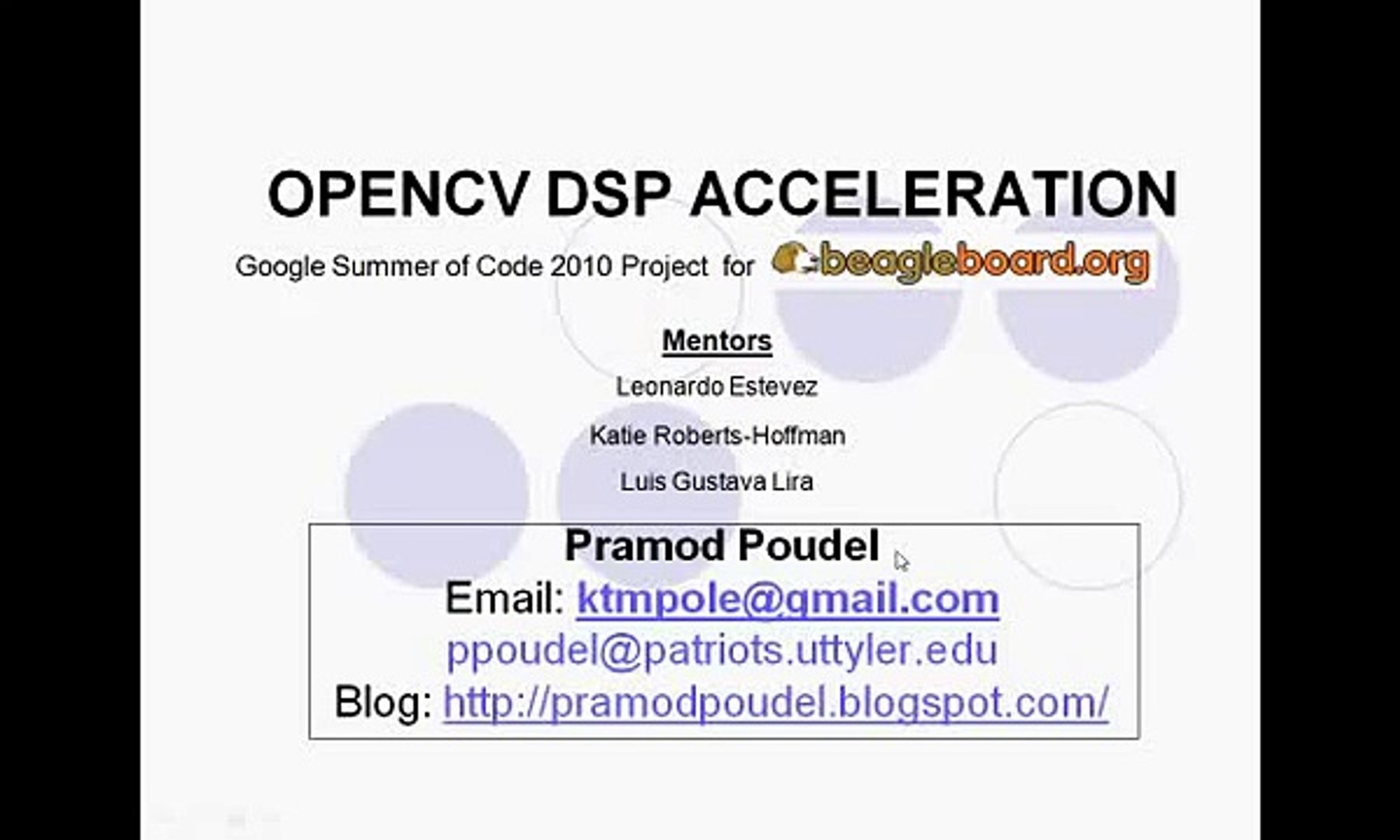 Acceleration Of OpenCV using DSP core in Beagleboard