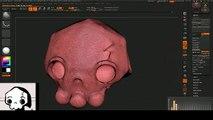 XGEN 3D Gothic red MONSTER hair bird speed sculpting art