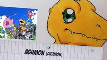 How to draw Agumon アグモン Digimon Tri Drawing Tutorial