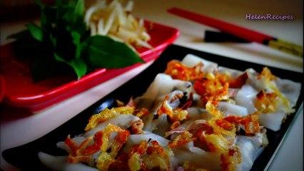 Vietnamese steamed rice rolls - Banh cuon