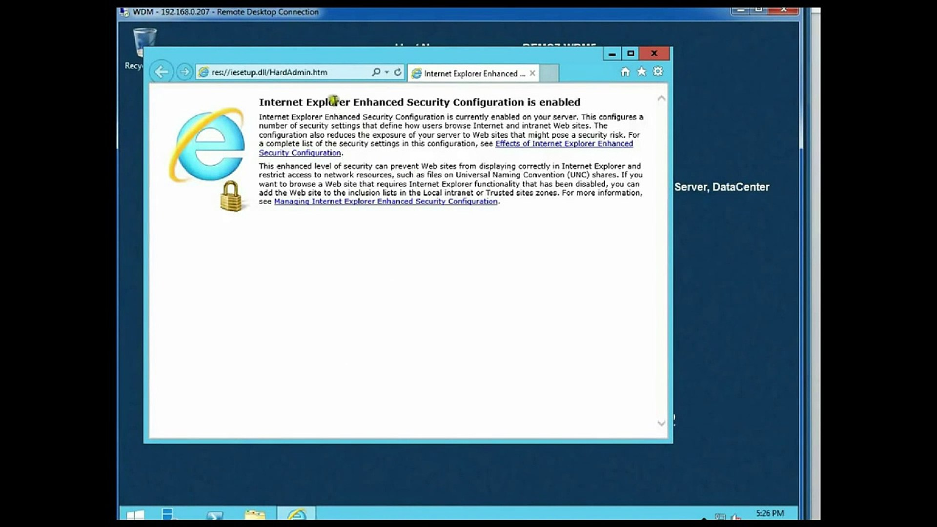 Demo Installation of Wyse Device Manager (WDM) 5 0
