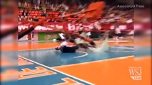 Harlem Globetrotter Performs Shattering Slam Dunk | Harlem Globetrotters Video