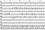Voglio Vivere Così Base Musicale  Partitura Sax Tenore rigo 3