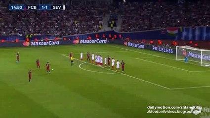2-1 Lionel Messi Incredible Fantastic Second Free-Kick Goal _ Barcelona v. Sevilla - UEFA Super Cup 11.08.2015 HD