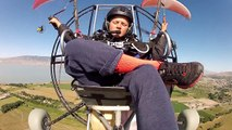 12 Year Old Paramotor Pilot Powered Paragliding Formation Flying XC With The Big Boys!!