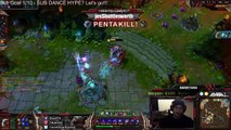 1v5 Rengar DOUBLE PENTA. Two pentas.. back to back. twitch.tv/avaail