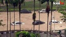 Heavy rain causes flash floods at university