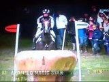 Zara Phillips and Ardfiel Magic Star - cross country fall
