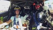 Ken Block SEMA Show Ride-Along Ford Fiesta RS EcoBoost WRC Gymkhana Global Rally Cross