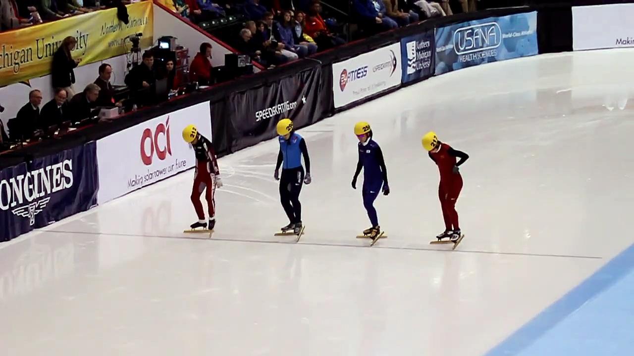 2009 ISU World Cup #4 Women's 1000m Semi Final Katherine Reutter