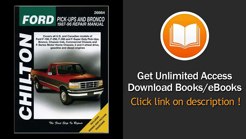 Chiltons Ford Pick-Ups And Bronco 1987-96 Repair Manual EBOOK (PDF) REVIEW
