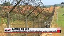 S. Korea mulling reinstatement of tree-burning policy at border