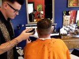 Cody the Rockabilly Barber - Caleb's Haircut (Shave coming soon)