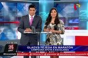 Gladys Tejeda corrió junto a escolares en maratón de colegio limeño