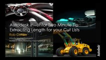 Autodesk Inventor Two Minute Tip: Extracting Cut Length