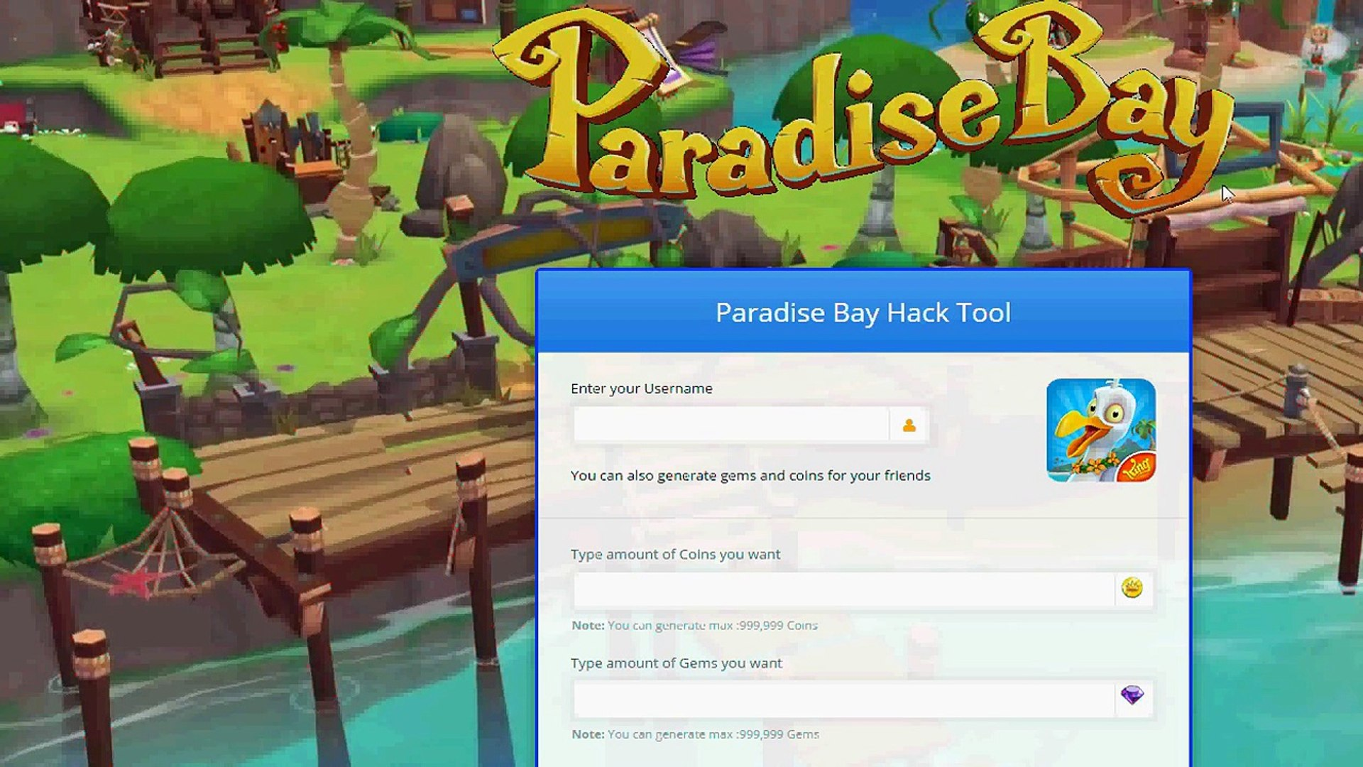 paradise bay unlimited gems and coins apk
