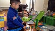 Domino tricks for little kids -- episode#2: Domino Rally