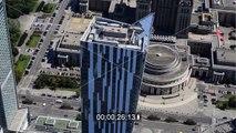 Video der Hochhaus- Skyline im Zentrum der Hauptstadt Warschau in Polen