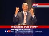 espace Pierre Cardin UDT MPF 2008 Philippe de Villiers