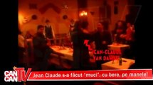 Jean Claude Van Damme borracho restaurante y divertirse en Bucarest Rumania 2013