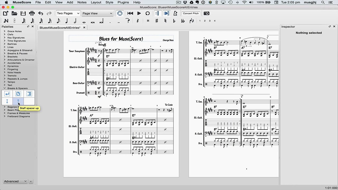 MuseScore in Minutes: Lesson 11 - Layout and Parts
