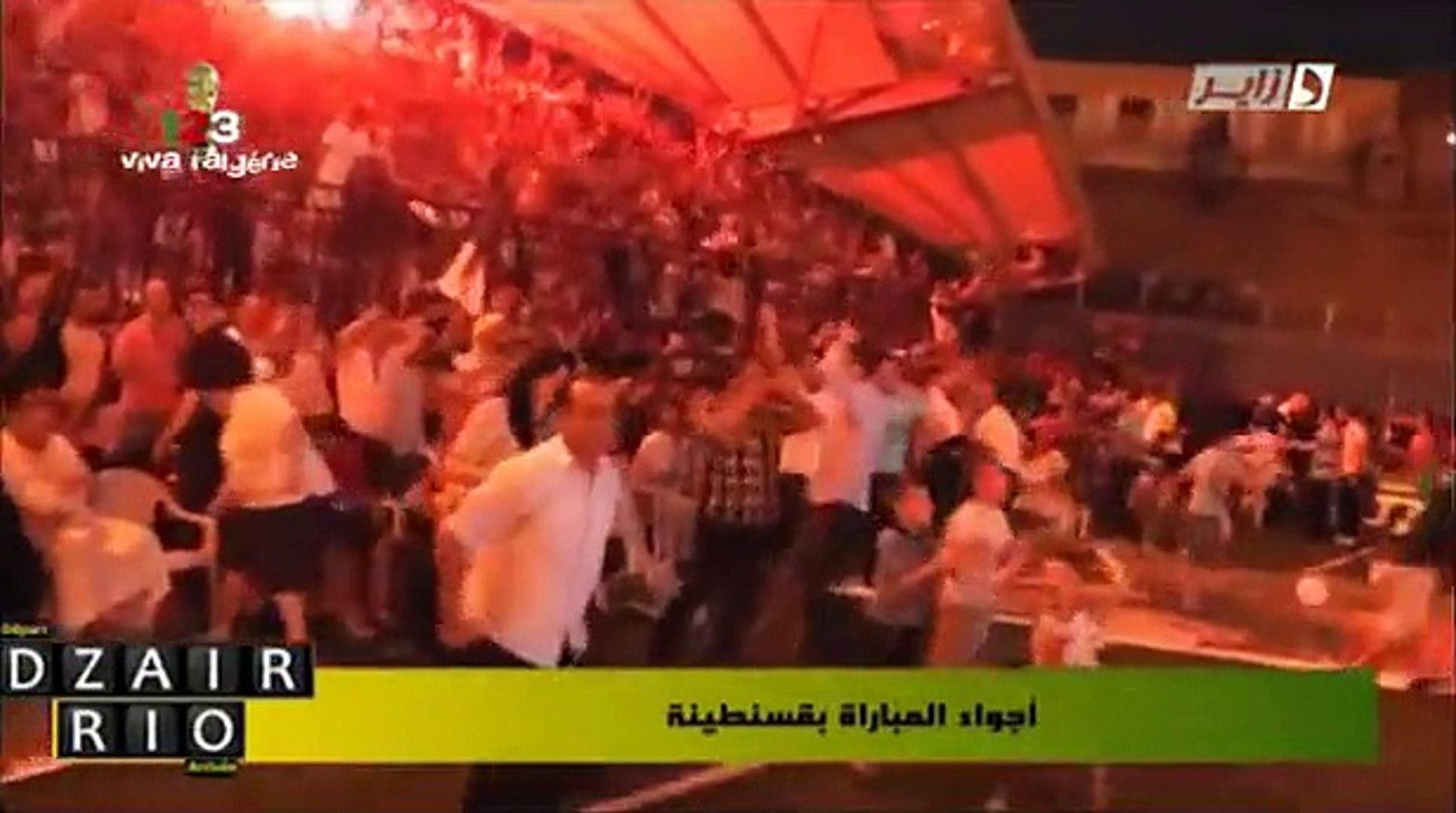 Algérie - Constantine - magnifique ambiance Après le match Algérie 4-2 Corée
