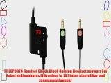 TT ESPORTS Headset Shock Black Gaming Headset schwarz 3m Kabel abklappbares Mikrophon in 10