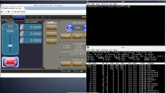 Axis on LinuxCNC - Raspberry Pi