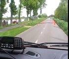 brandweer: voorin in de brandweerwagen een ritje maken  met prio 1