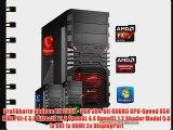 dercomputerladen Gamer PC System AMD FX-6350 6x39 GHz 8GB RAM 2000GB HDD Radeon R9 280X -3GB
