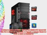 dercomputerladen Gamer PC System AMD FX-6300 6x35 GHz 16GB RAM 1000GB HDD Radeon R9 280X -3GB