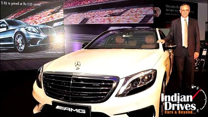 Mercedes Benz S 63 AMG Sedan Launched in India at Rs 2 53 crore