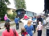 Parní vlak v Boskovicích 5.9.2009 (lokomotiva 423.009)