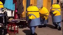 Troublemakers minions in the street.