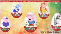Frozen Peppa Pig Cartoon | Elsa Anna Kinder Surprise Royal Sisters | Princess Frozen Fan