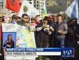 Manifestantes pernoctaron en el parque El Arbolito