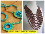 crochet necklaces crochet beaded necklace how to make crochet necklace