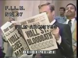 1987 Stock Market Crash (stock footage / archival footage)