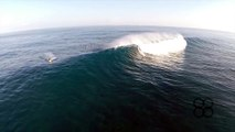 EPIC JAWS SURFING DRONE -- PEAHI, MAUI 1-19-2014