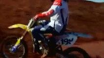 Travis Pastrana strange backflips in tribute to Evel Knievel