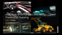 Autodesk Inventor Two Minute Tip: Direct Parameter Naming