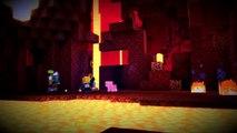Minecraft: Story Mode NETHER RAIL RIDE! Episode 1 Walkthrough (Part 5)