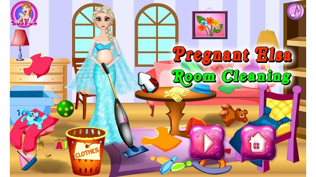 Pregnant Elsa Room Cleaning Beautifull Disney Princess Elsa Frozen Movie Videos Game For K
