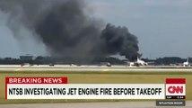 L'incendie d'un avion en Floride, à travers les télés américaines