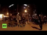 Protesters attack banks after police crackdown on anarchists in Barcelona