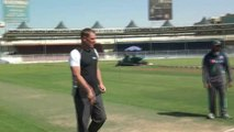 Yasir Shah bowling Session with Shane Warne at Sharjah Cricket Association Stadium