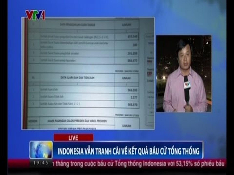 Indonesia vẫn tranh cãi về kết quả bầu cử Tổng thống