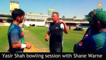 Yasir Shah bowling session with Shane Warne || Cricket || Pakistan || Bowler ||Sharjah training session with best bowler