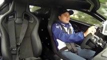 Felipe Massa drives Jaguar C-X75